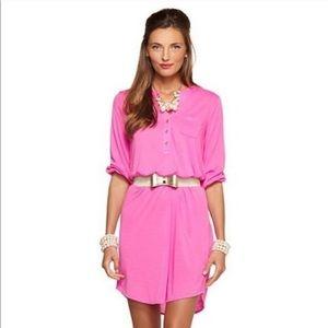 Lilly Pulitzer Beckett Jersey Shirt Dress, Pink, L